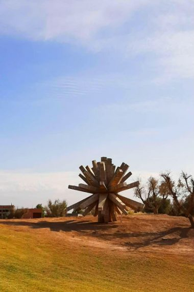 sculpture bois al maaden golf marrakech