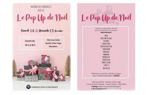 Le Pop Up de Noël @ Villa Casa Cecilia Marrakech